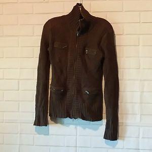 Athleta brown cotton cashmere sweater S